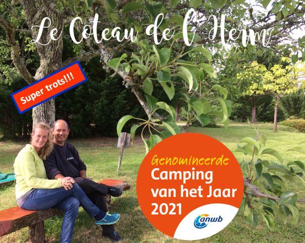Camping Le Coteau de l'Herm genomineerd voor beste kleine camping 2021