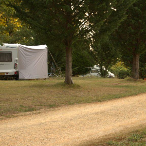 Centraal gelegen op de camping